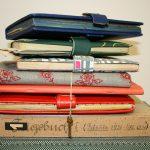 gestapelte Tagebücher